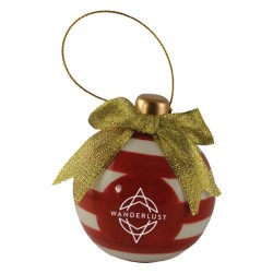 Ceramic 3D Christmas Bulb Ornament