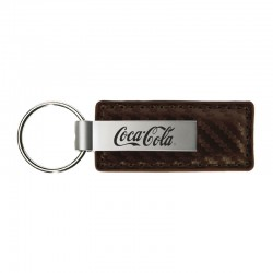 Carbon Fiber Leather & Metal Key Chain