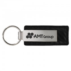 Carbon Fiber Leather and Metal Key Chain II