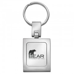Classic Square Two-Toned Key Chain