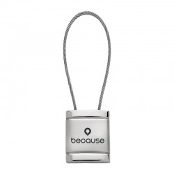 Cable Square Key Chain