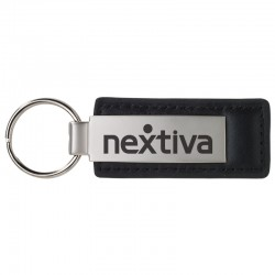 Leather & Metal Rectangle Key Chain II