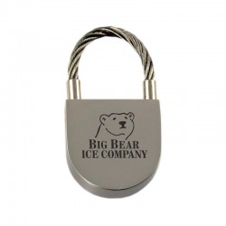 Rounded Padlock Cable Key Tag