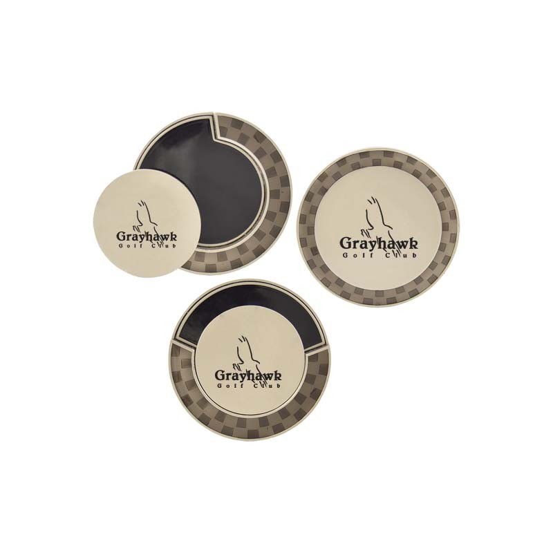 ball markers. poker chip golf ball markers (dual engraving) imprint area