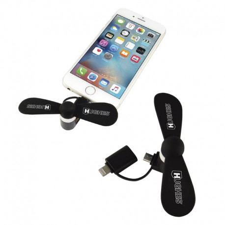 Silicone Cell Phone Fan (Micro/Lightning)
