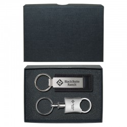 Leather Key Tag and Trillium Valet Key Tag