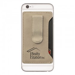 Velour Cell Phone Card Holder with Money Clip