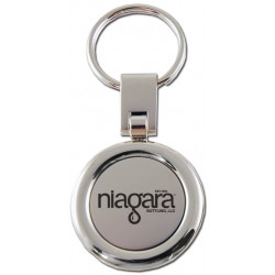 Classic Round Two-Toned Key Chain