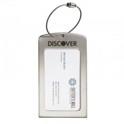 Luggage Tag Displaying Business Card