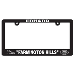 Black Plastic License Plate Frame (10 styles)