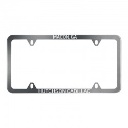 Brushed Stainless Steel License Plate Frame