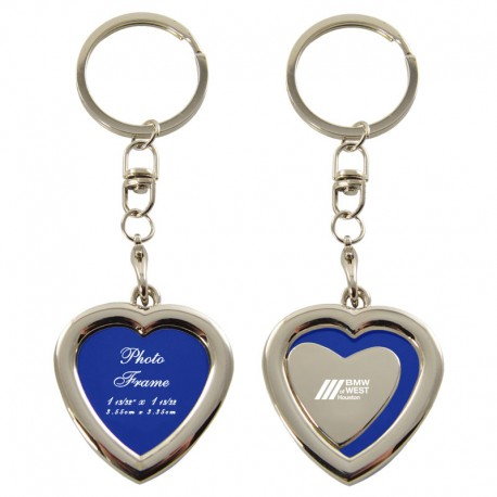 Heart Shaped Key Chain With Picture Frame