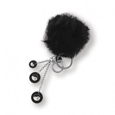 Color Puff Key Chain