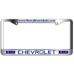 Solid Zinc License Plate Frames - Recessed