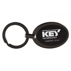 Black Frost Key Chain (Oval) - Imprint Area