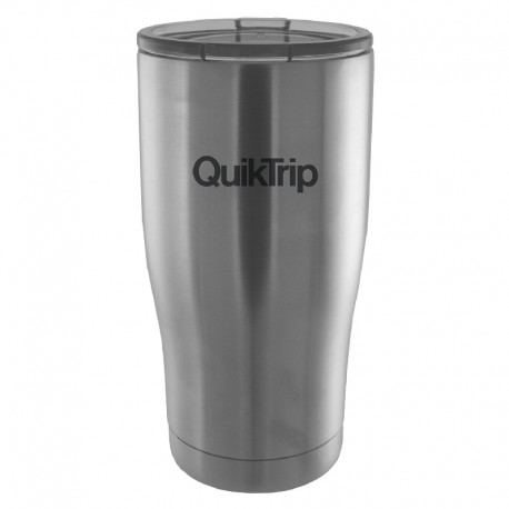 16 oz. Silver Gloss Insulated Tumbler