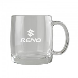 13 oz. Engraved Glass Mug