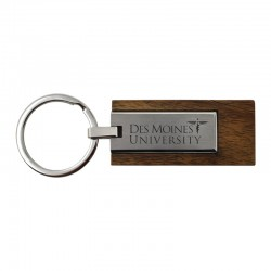 Wood and Metal Key Chain