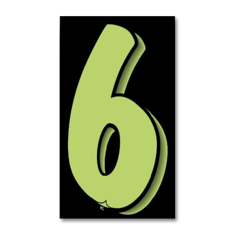 Windshield Numbers 9 5 Quot Black Green
