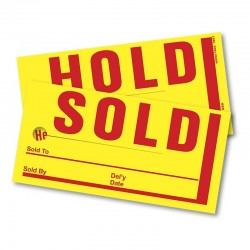 """Sold/Hold Tags 4"""" x 8"""" (250 per Box)"""