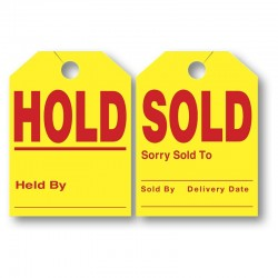 """Sold/Hold Tags 8.5"""" x 11.5"""""""