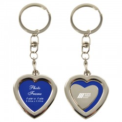 Heart-Shaped Key Chain with Picture Frame