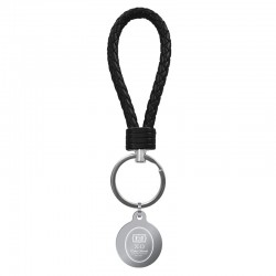 Braided Leather Loop Color Key Chain
