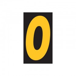 "Windshield Numbers 11.5"" (Black/Yellow)"