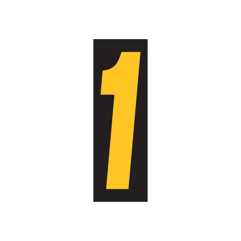 Windshield Numbers 11 5 Quot Black Yellow
