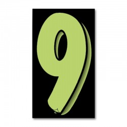 "Windshield Numbers 9.5"" (Black/Green)"
